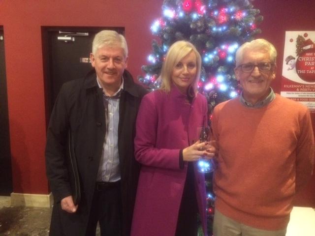 Lions President Padraig Keegan, The Wine Centres Dara O'Reilly Daly and Lions member John O'Regan enjoying the night