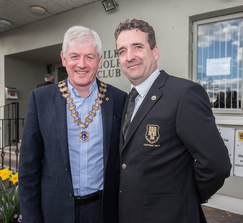 Padraig Keegan, President Kilkenny Lions with Rob O'Shea, Captain Kilkenny Golf Club.